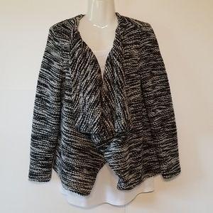 H&M Jacket, Black & White Bubble Fleece, Large